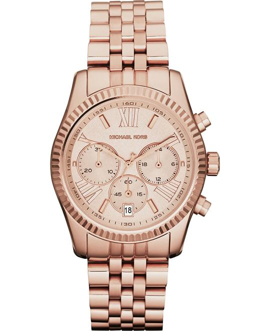 Michael Kors Lexington Rose PVD Unisex Watch 38mm