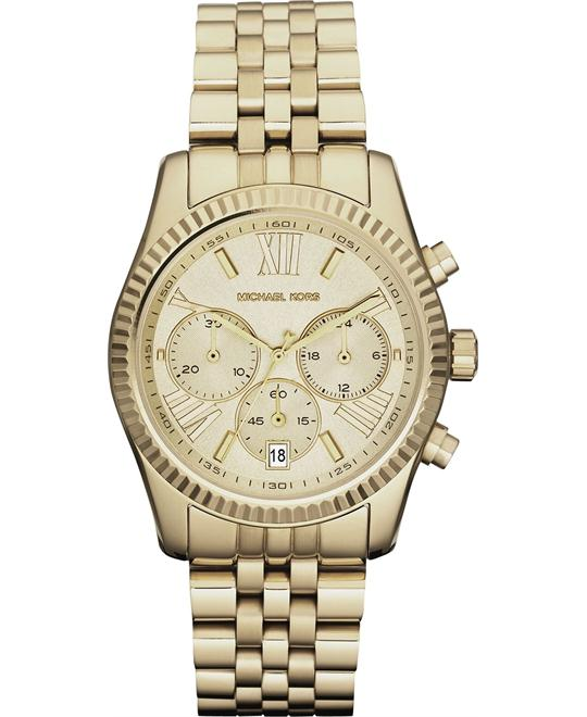 Michael Kors Lexington Unisex Gold PVD Watch 38mm
