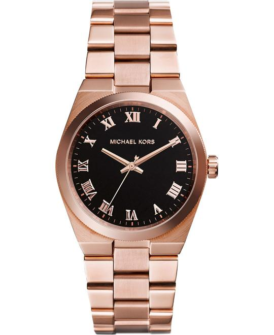 Michael Kors Channings Unisex Rose Gold Plated Watch 38mm