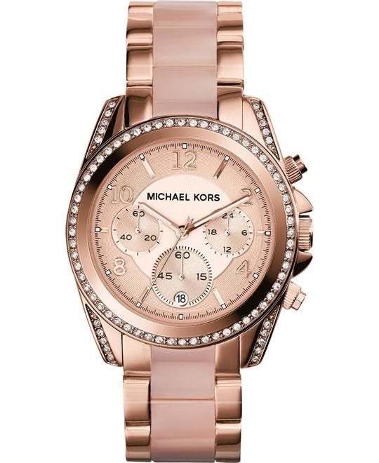 Michael Kors Blair Rose Gold Glitz Watch 39mm