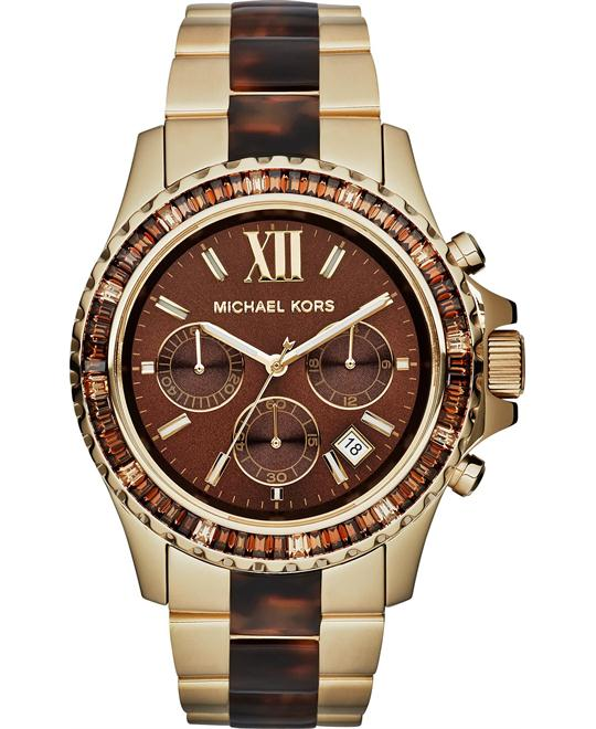 Michael Kors Everest Unisex Tortoise Watch 42mm