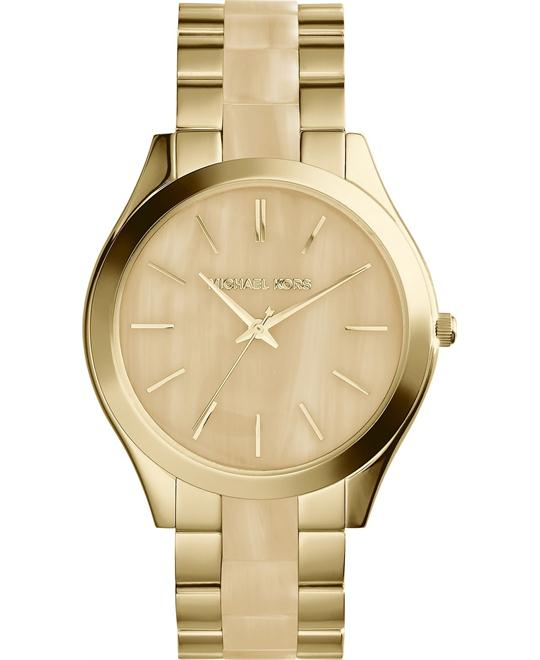 Michael Kors Slim Runway Champagne Unisex Watch 42mm