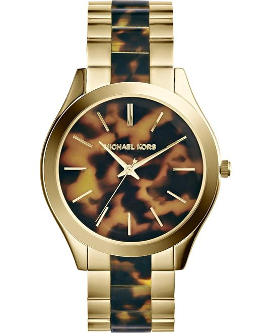 Michael Kors Slim Runway Tortoise Unisex Watch 42mm