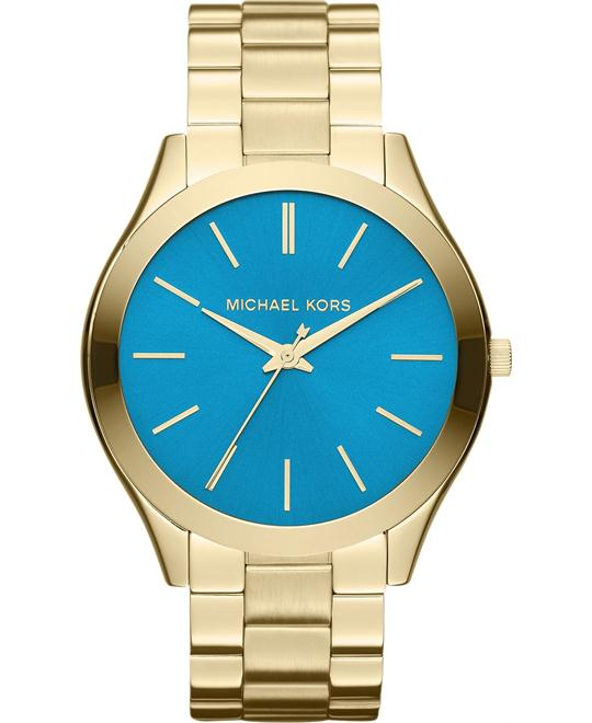 Michael Kors Slim Runway Unisex Gold Watch 42mm