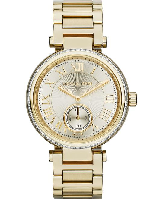 Michael Kors Skylar Glitz Yellow Gold Unisex Watch 42mm