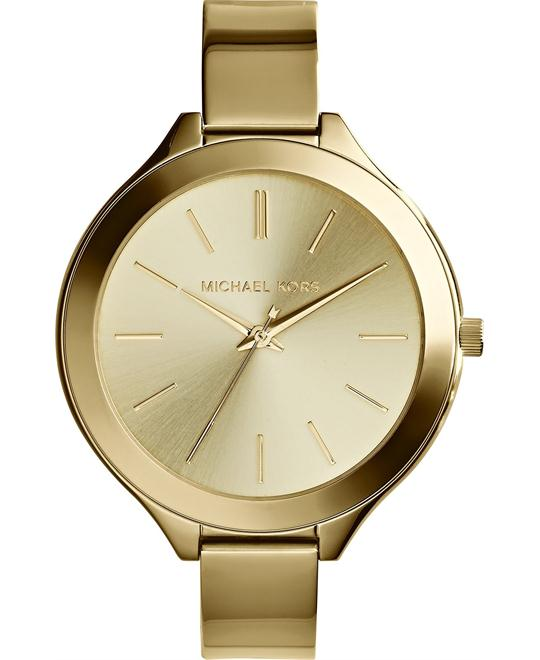 MICHAEL KORS Slim Runway Champagne Watch 43mm