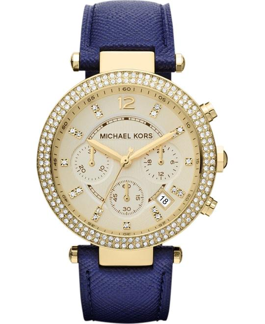 Michael Kors Parker Gold and Navy Blue Women's Watch 39mm
