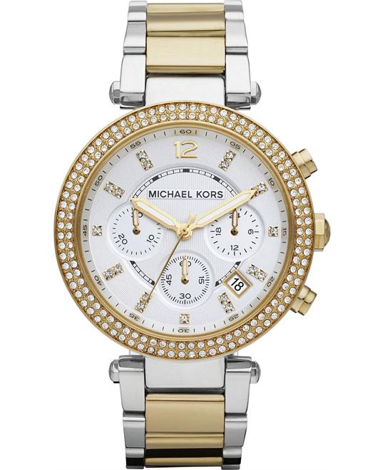 Michael Kors Parker Glitz Two Ladies Watch 39mm