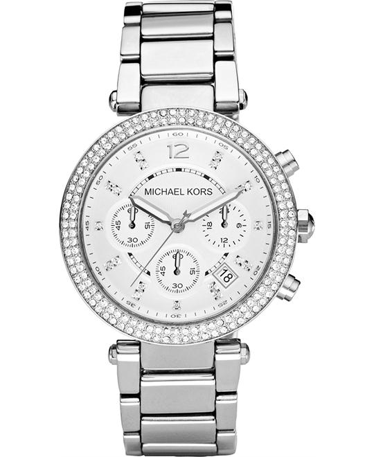 Michael Kors Parker Silver Women's Watch 39mm