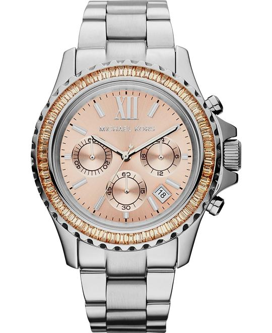 Michael Kors Everest chronograph pink dial watch 42mm