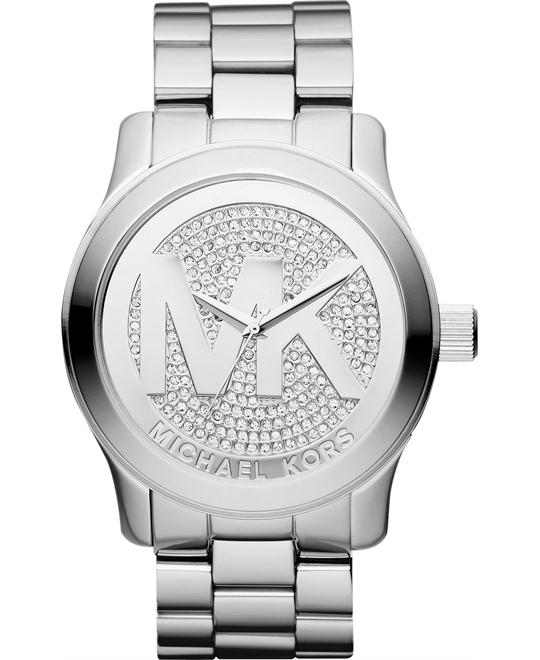 Michael Kors PETITE Runway Pave Logo Watch 45mm