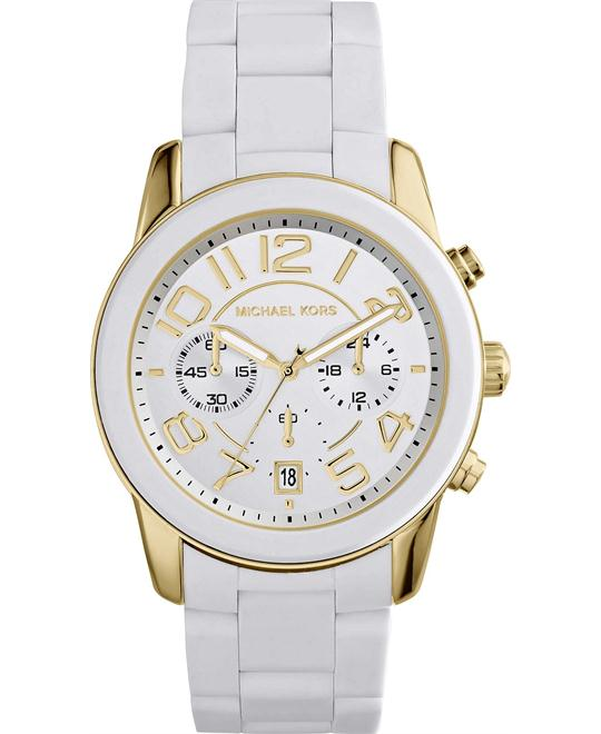 Michael Kors Mercer White Silicone Unisex Watch 42mm