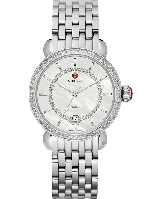 MICHELE CSX Elegance Stainless Ladies Watch 36mm