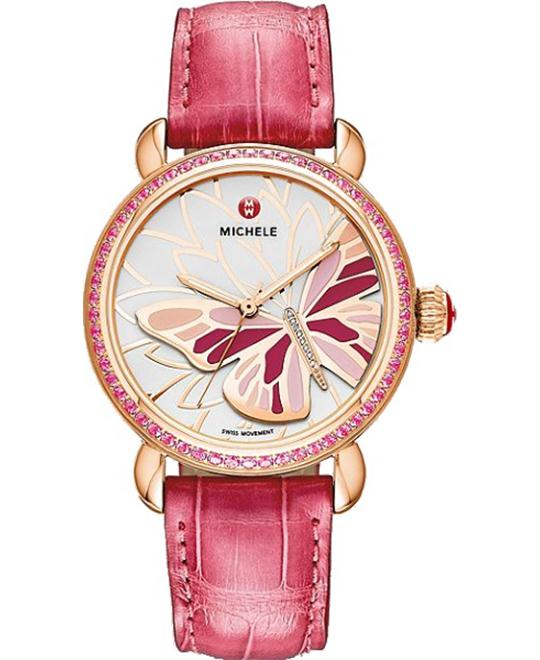 Michele CSX Garden Party Diamond Butterfly Watch 36mm