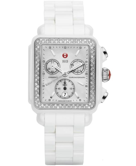 Michele Deco Diamond 0.60cts Watch Ceramic 33mm X 35mm