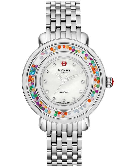 Michele Ladies Diamond Stainless Steel 38mm