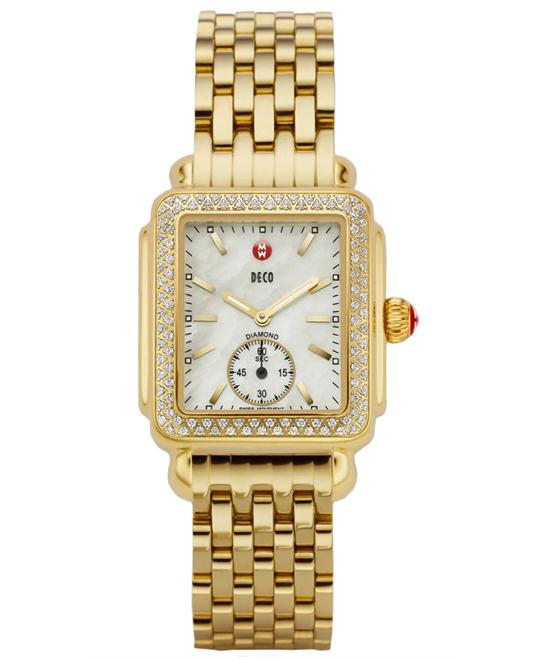 Michele Ladies Gold Plated 29mm X 31mm