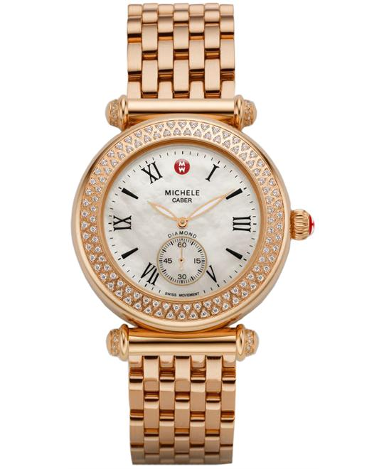 Michele Caber Diamond Bezel Watch Ladies 37mm