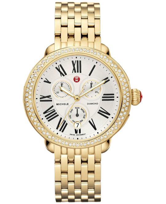 Michele Serein Ladies Swiss Plated 40mm X 38mm