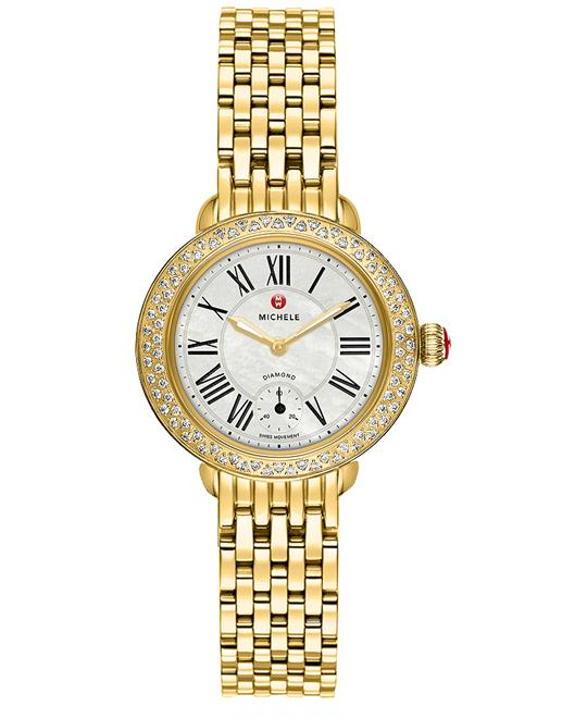 Michele Ladies Serein Polished 28mm X 27.5mm