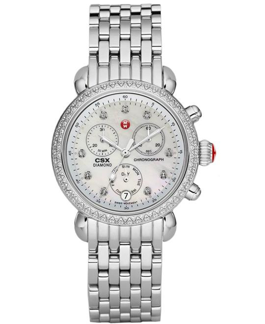 Michele Ladies Signature CSX Stainless Steel 36mm