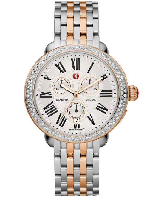 Michele Ladies Stainless & rose Gold 40mm X 38mm