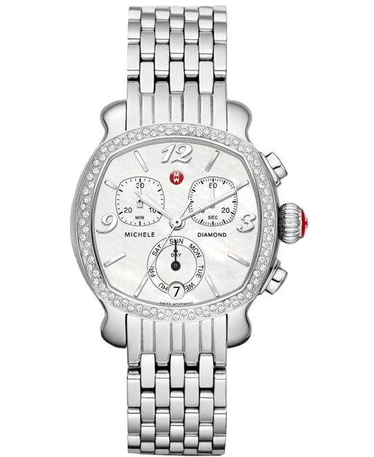 Michele Ladies Lilou Diamond 32mm X 33mm