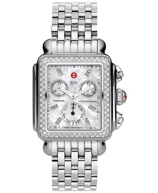 Michele Deco Diamond Swiss Watch 33*35mm