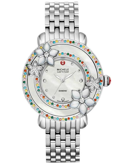 Michele Ladies Stainless Steel 38mm