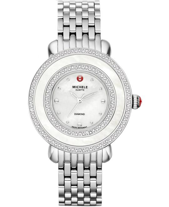 Michele Ladies Cloette Diamond watch 38mm