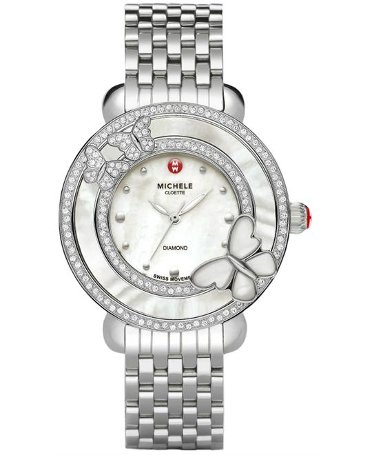 Michele Cloette Butterfly Diamond Ladies 38mm