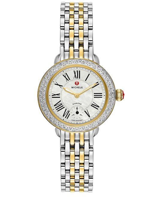 Michele Ladies Stainless Steel Gold Solid 28mm X 27.5mm