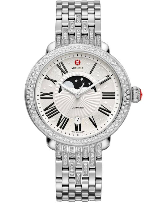 Michele Serein Diamond Moon Phase Ladies 40mm X 38mm
