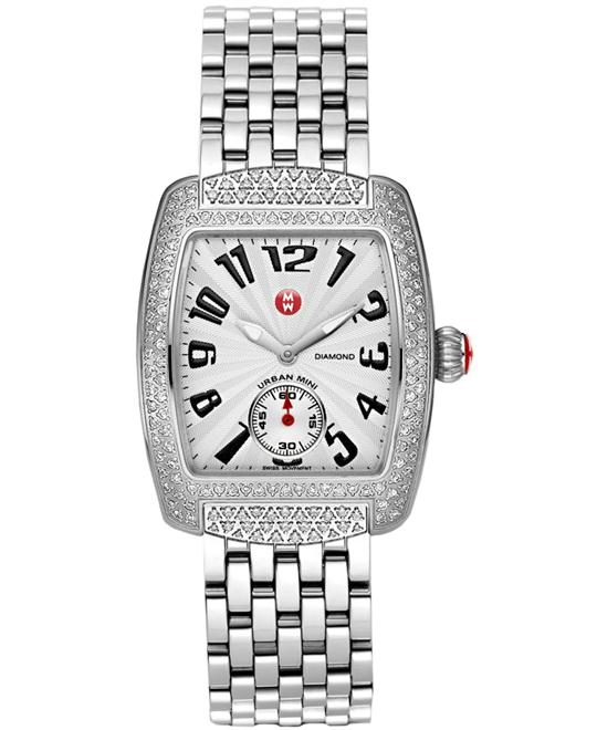 Michele Ladies Stainless Steel Polished Solid 29mm X 30mm