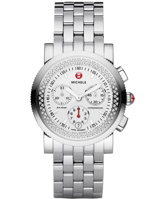 Michele Ladies Sport Sail Diamond, Sapphire 38mm