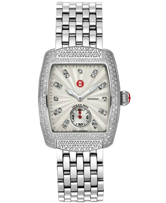 Michele Urban Mini Ladies Silver 29mm X 30mm