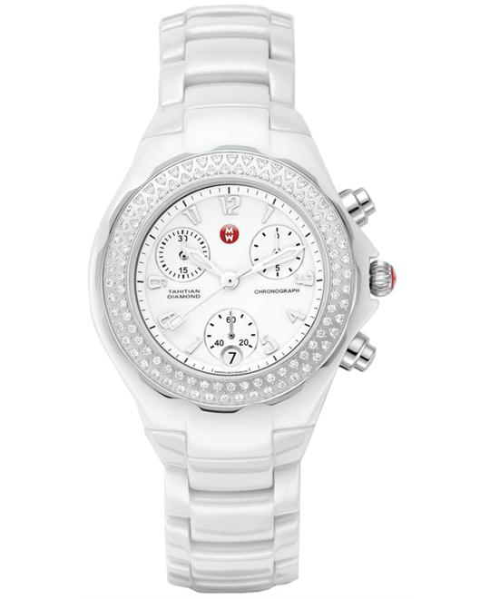 Michele Extured Enamel and Diamonds Tahitian Ceramic 35mm
