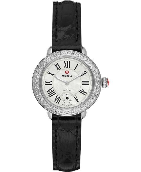 Michele Serein 12 Mother of Pearl Dial Diamond Basel 28mm