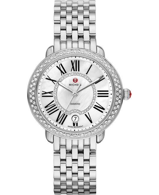 Michele Serein Mid Diamond Watch 36mm