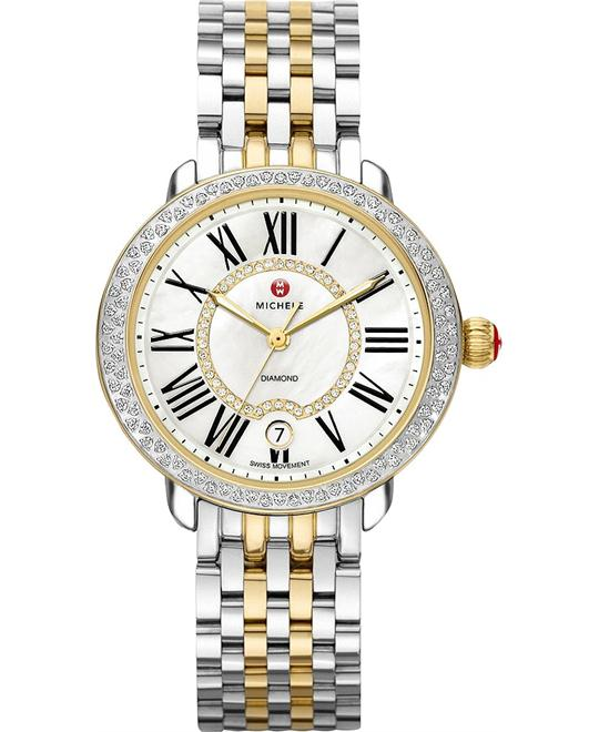 MICHELE Serein Mother of Pearl Two-tone Ladies Watch 36mm