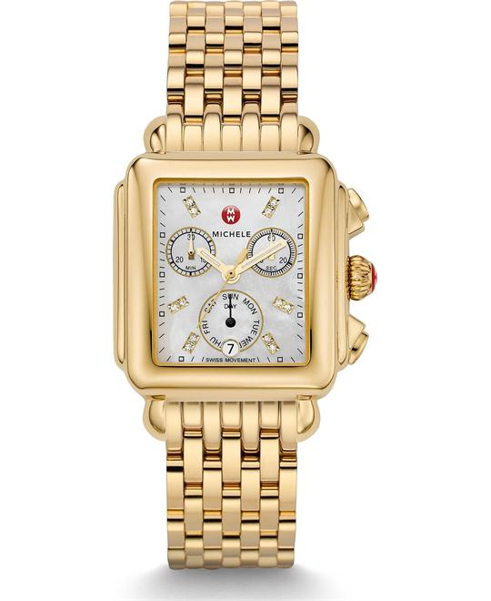 Michile Deco Diamond Gold Watch 33*35mm