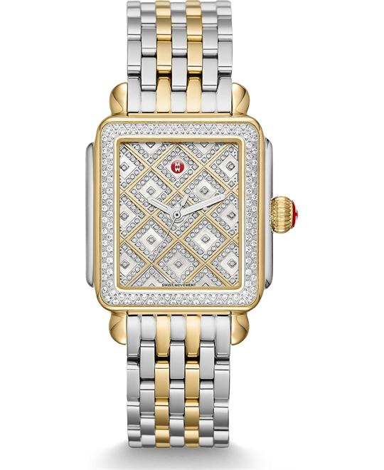 Michile Deco Diamond Grid Watch 33*35mm