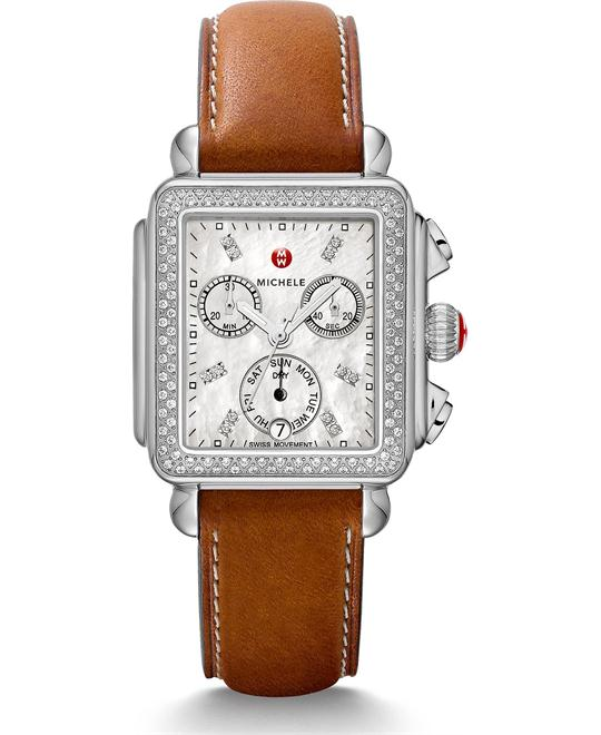 Michile Deco Diamond Saddle Watch 33*35mm