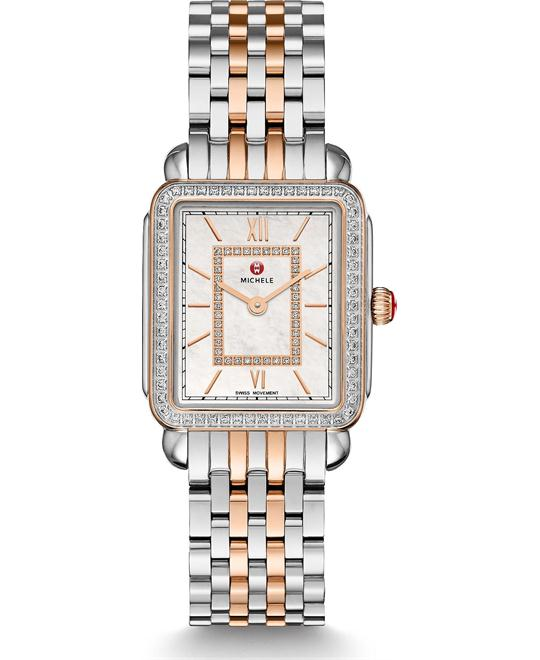 Michile Deco II Mid Diamond Rose Gold Watch 26*27.5mm