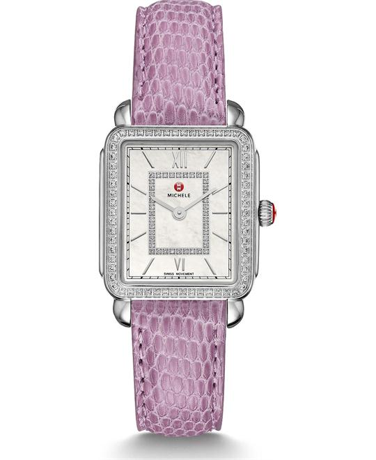 Michile Deco II Mid-size Diamond Lilac Watch 26.27.5mm