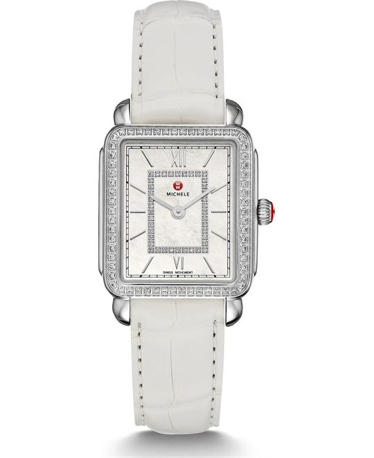 Michile Deco II Mid-size Diamond White Watch 26.27.5mm
