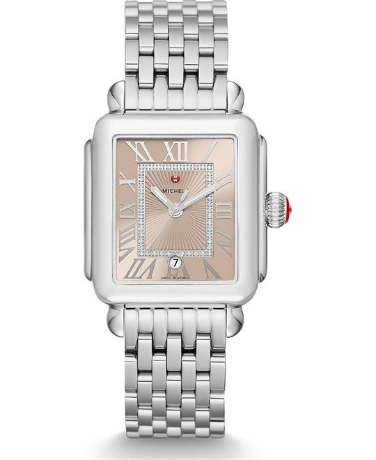 Michile Deco Madison Beige Diamond Watch 33*35mm