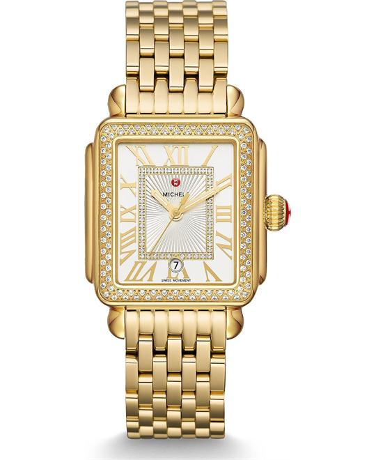 Michile Deco Madison Gold Diamond Watch 33*35mm
