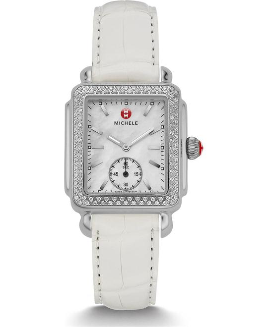 Michile Deco Mid Diamond Alligator Watch 29*31mm