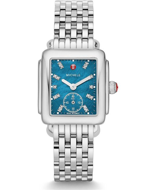 Michile Deco Mid Teal Diamond Watch 33*35mm